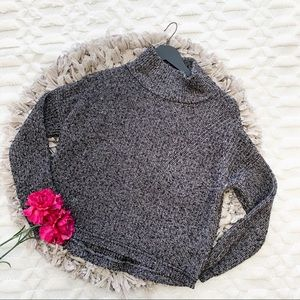French Connection Otis Cowl Neck Sweater in Grey